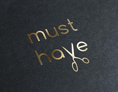Логотип для онлайн-курсов кройки и шитья MUST HAVE
