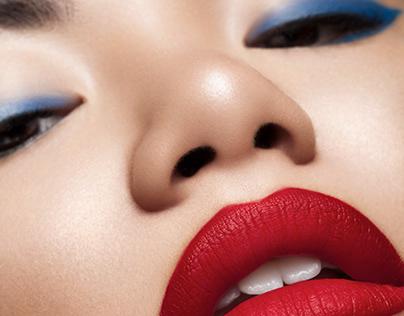 Mina in Red & Blue