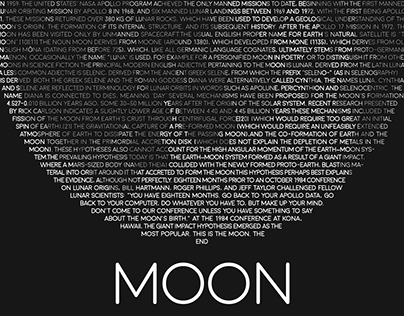 FONT POSTER. MOON.