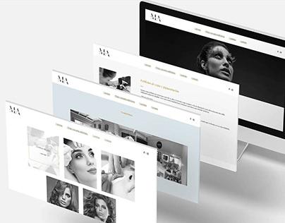 Logo + Web Design - Melina Acuña Make up