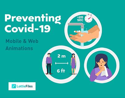 Covid-19 Prevention Web Animation