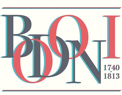 Cartaz Tipográfico - Bodoni.