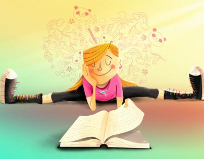 A lover of Books Illustration