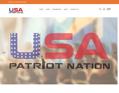 USA Patriot Nation Web Design