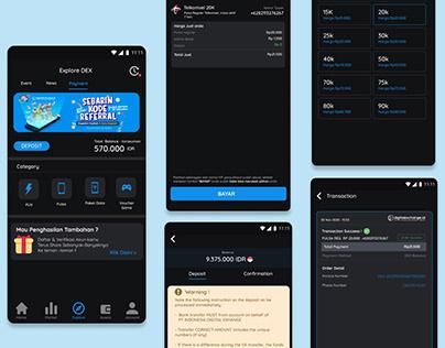 UI Apps Mobile digitalexchange.id - PPOB Pulsa Reguler
