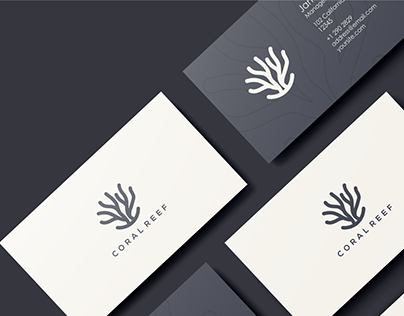 business card design for coral reef