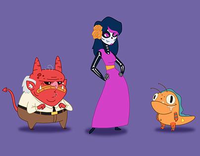 Rediseño de personajes Catalina la Catrina