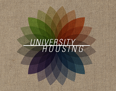 """University Housing - """"Housing Flower"""" Logo Concept"""
