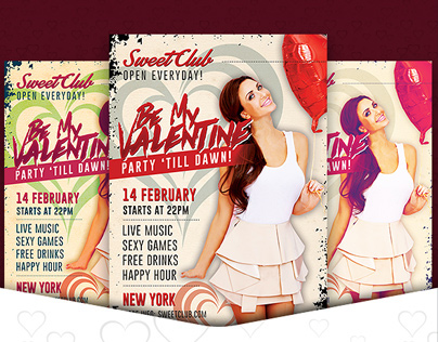 Free Be My Valentine Party Flyer