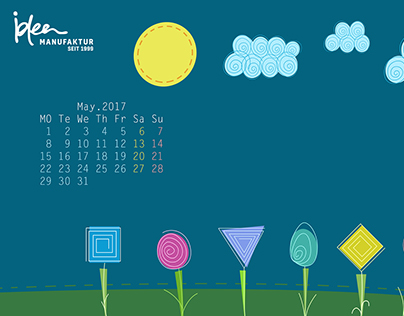 May's Calendar and Wallpaper