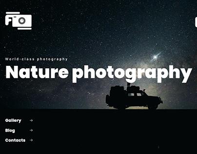 Website design for a nature photographer