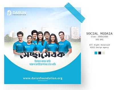 Volunteer Social media design for Darun Foundation
