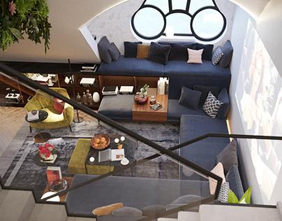 Interior design - author's project Urban Jungles