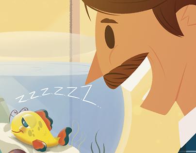 Ilustração Nestlé: Peixe