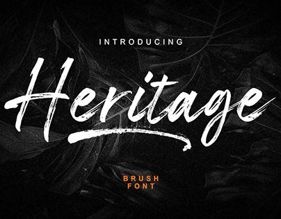 Heritage Brush Font