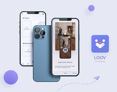 LOOV | AR Photo Gift App UIUX