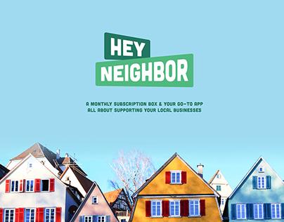 Hey Neighbor: App & Subscription Box Packaging