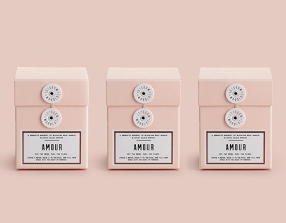 Woodlot Amour Candle Box Packaging Design