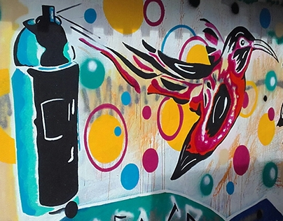 Graffiti at The National Art Gallery of The Bahamas