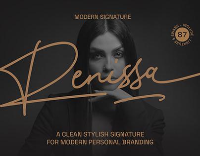 Renissa Signature Font