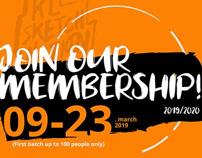 KL Sketch Nation's Membership Registration Posters