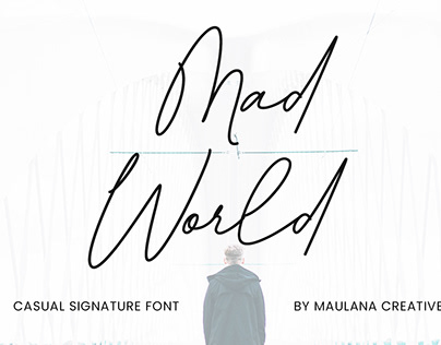 Mad World Casual Signature Font