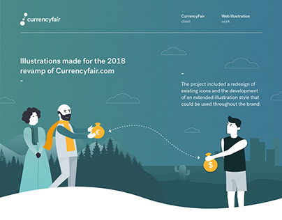 CurrencyFair - Corporate Illustration + Icons