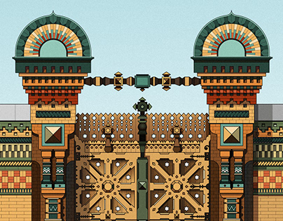 Illustration of Russian architecture