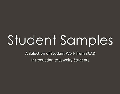 Selection of Work from Intro to Jewelry Students