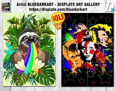 Metal Posters SOLD! On BluedarkArt's Displate Gallery