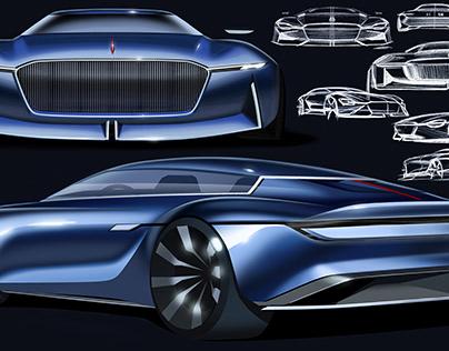 FAW Hongqi Zheng concept coupe design