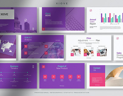 Xiove - Professional Infographic Statistic PPT