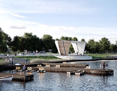 Landscape design for the Labinsk lake area