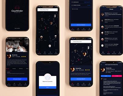 CouchFinder Mobile App PSD