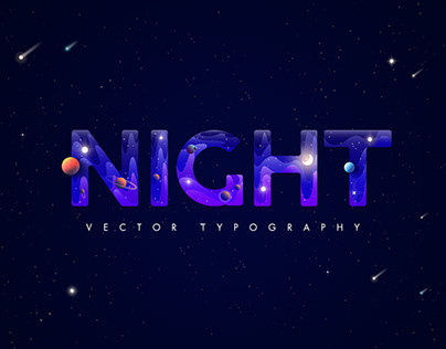 Night Typography