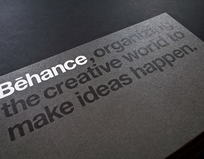 Behance Business Cards