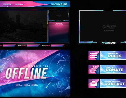 FREE TWITCH STREAM OVERLAY TEMPLATE 2019 #11 DOWNLOAD