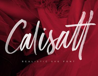 Calisatt - Brush SVG Texture Font