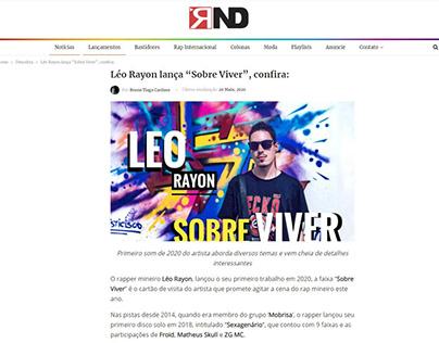 """Léo Rayon lança """"Sobre Viver"""", confira:"""