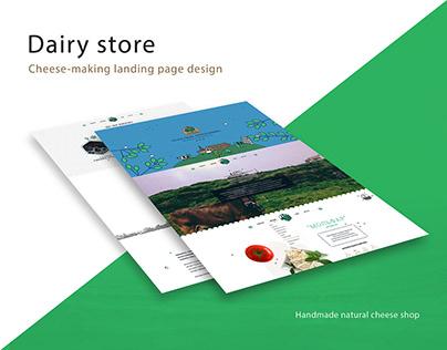 DairyStore landing