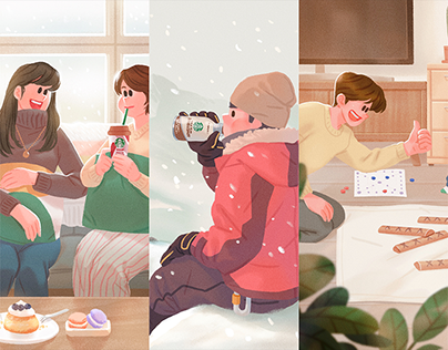 Illustrations for STARBUCKS RTD