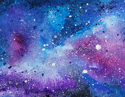 Galaxy, a watercolor painting