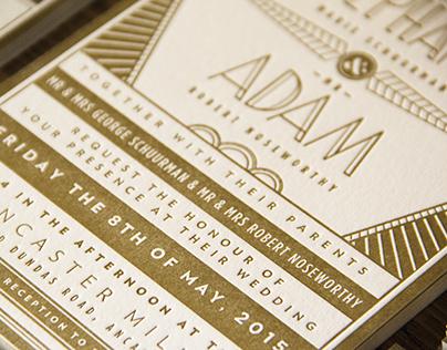 Adam & Stephanie's Wedding Identity & Collateral