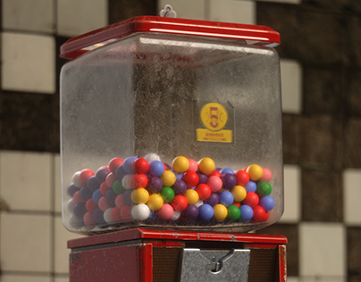 Gumball Machine 3D MODELING / LOOK DEV. / LIGHTING
