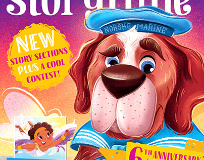 Storytime Magazine illustrations issues 73 & 66