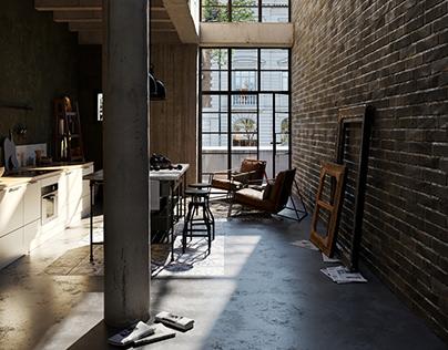 CGI -kitchen space