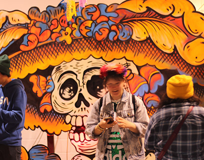 La Catrina Pop-up Mural