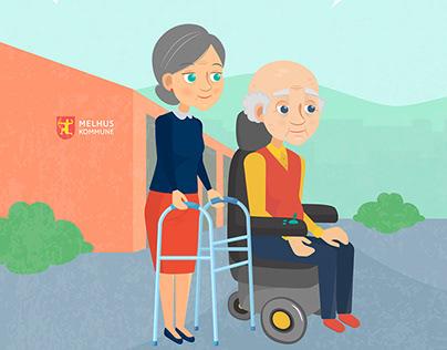 Illustrations for Explainer Video | Melhus Kommune2