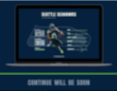 Webdesign of Seattle Seahawks (personal project)