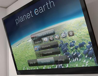 BBC Planet Earth Blu-ray & HD DVD menu design
